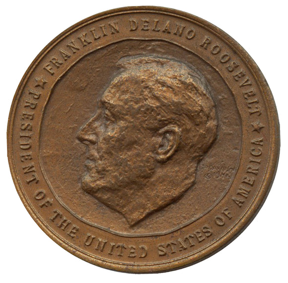 Official 1941 FDR Inaugural medal