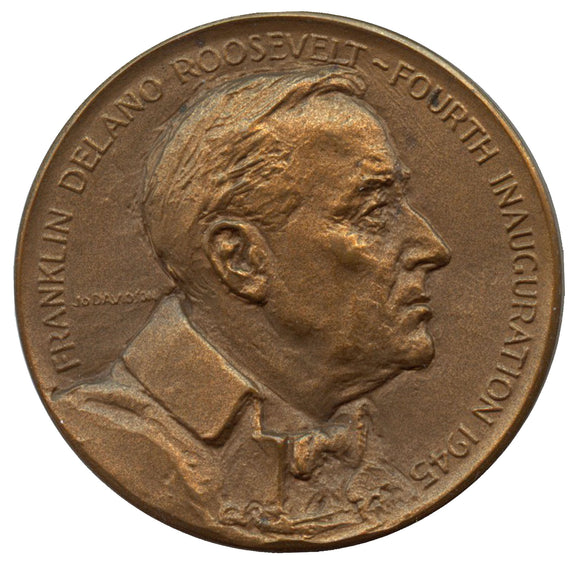 Official 1945 FDR Inaugural medal