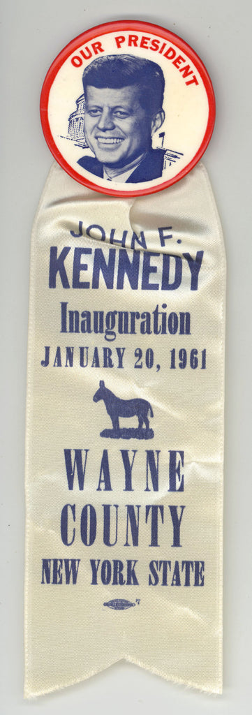 OUR PRESIDENT / JOHN F. KENNEDY Inauguration WAYNE COUNTY N.Y. STATE