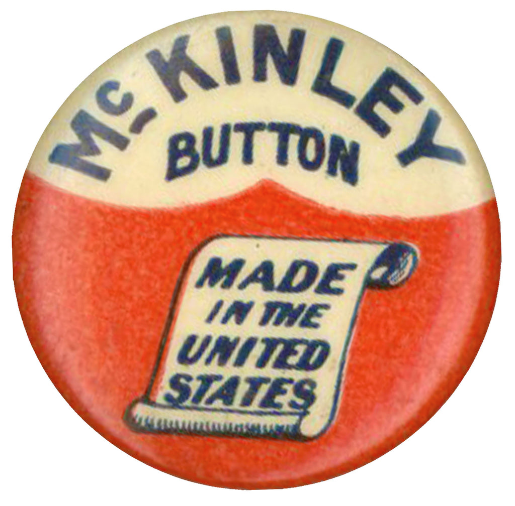 McKINLEY BUTTON  MADE IN THE UNITED STATES