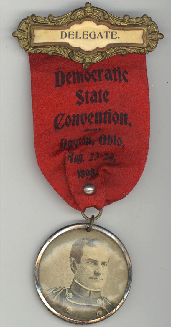 DELEGATE. Democratic State Convention. Dayton, Ohio, Aug. 23-24, 1898.