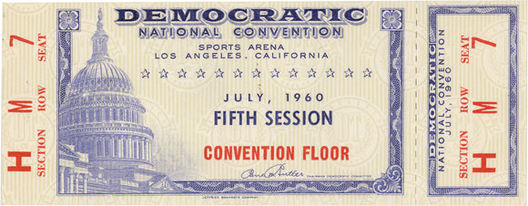 DEMOCRATIC NATIONAL CONVENTION JULY, 1960 CONVENTION FLOOR