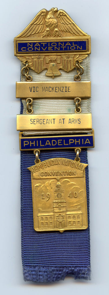 SERGEANT AT ARMS / PHILADELPHIA / REPUBLICAN NATIONAL CONVENTION 1940