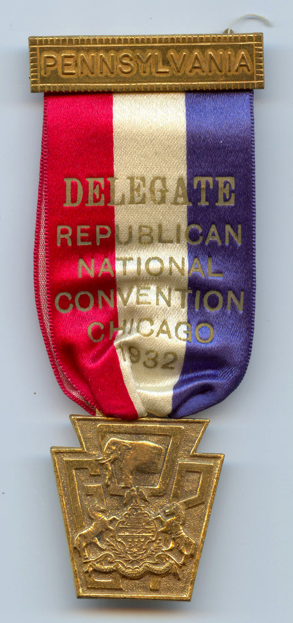 PENNSYLVANIA / DELEGATE REPUBLICAN NATIONAL CONVENTION CHICAGO 1932
