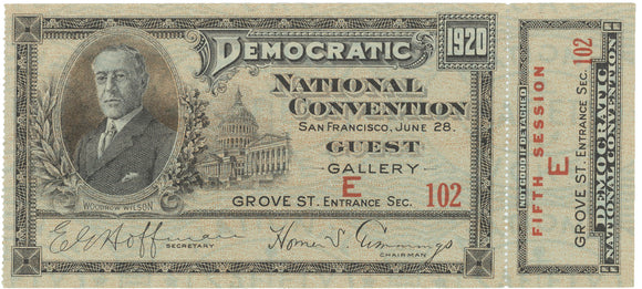 1920 DEMOCRATIC NATIONAL CONVENTION SAN FRANCISCO GUEST