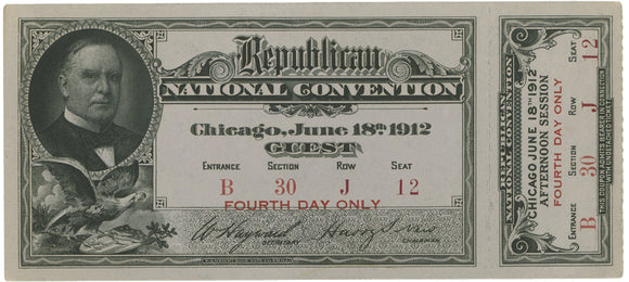 Republican NATIONAL CONVENTION Chicago, 1912 GUEST