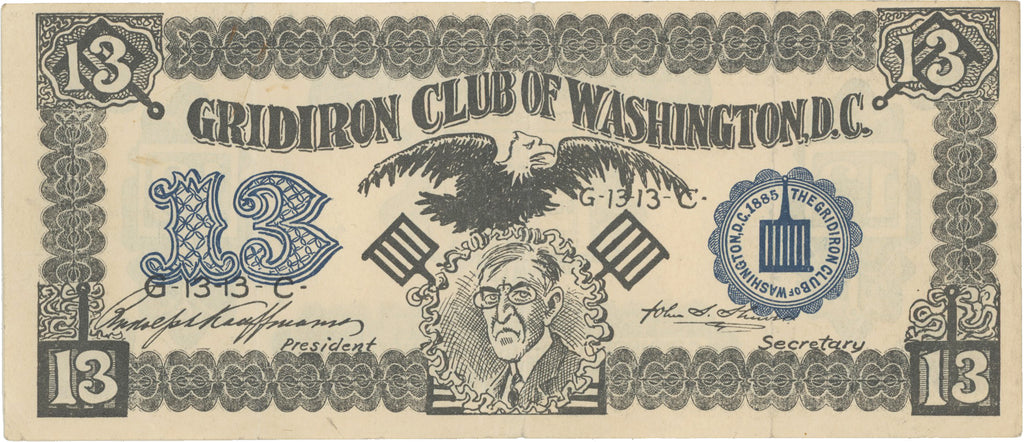 GRIDIRON CLUB OF WASHINGTON, D.C. (Wilson)