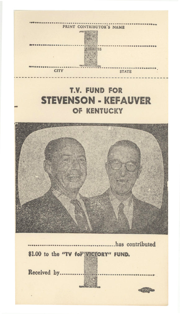 T.V. FUND FOR STEVENSON-KEFAUVER OF KENTUCKY