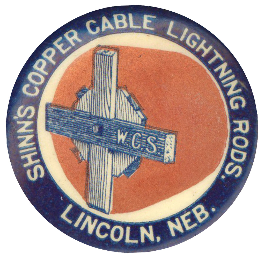 SHINN'S COPPER CABLE LIGHTNING RODS.  LINCOLN, NEB.