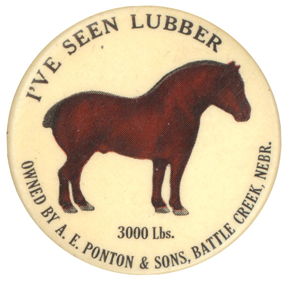 I'VE SEEN LUBBER  3000 Lbs.  OWNED BY A.E. PONTON & SONS, BATTLE CREEK, NEBR.
