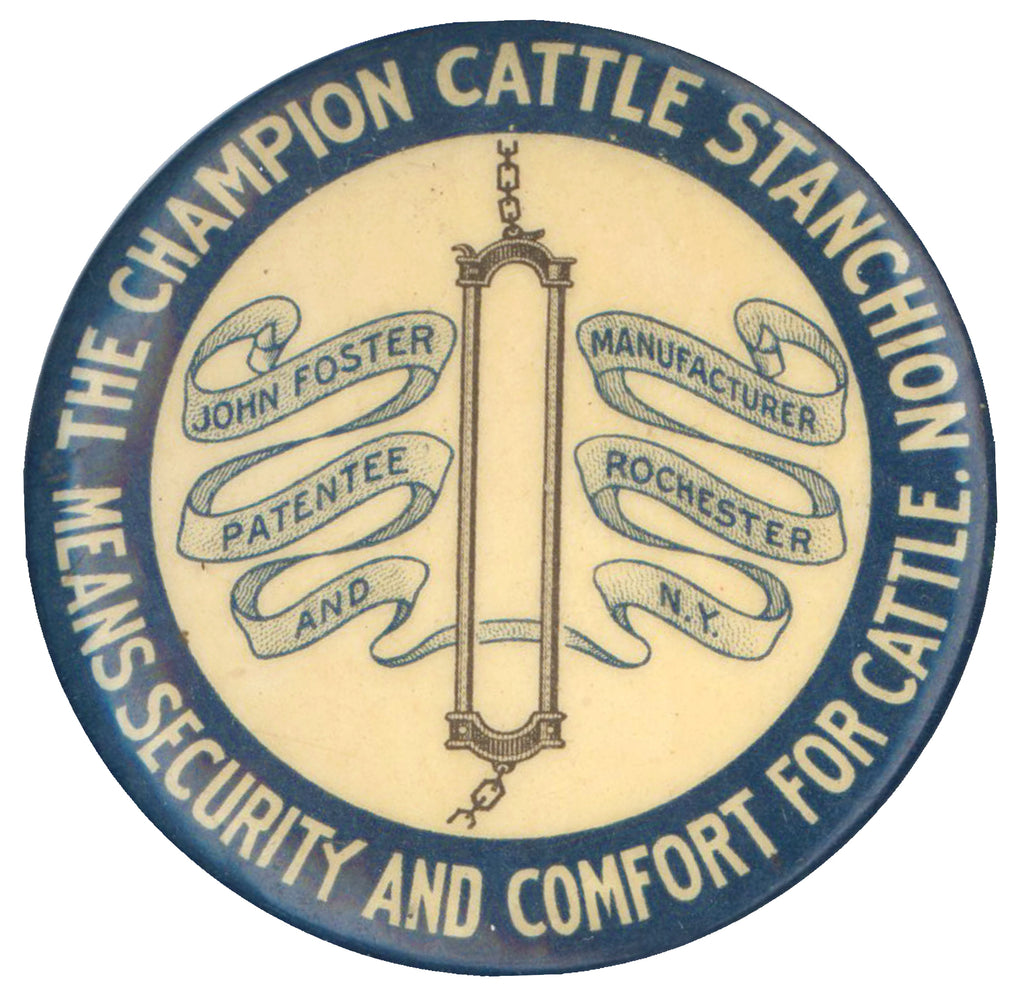 THE CHAMPION CATTLE STANCHION MEANS SECURITY AND COMFORT FOR CATTLE.