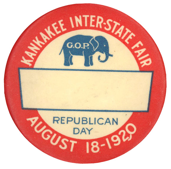 KANKAKEE INTER-STATE FAIR G.O.P. REPUBLICAN DAY AUGUST 18 - 1920
