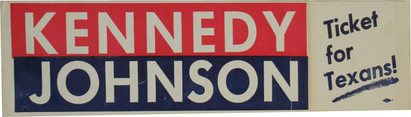 KENNEDY JOHNSON Ticket for Texans!
