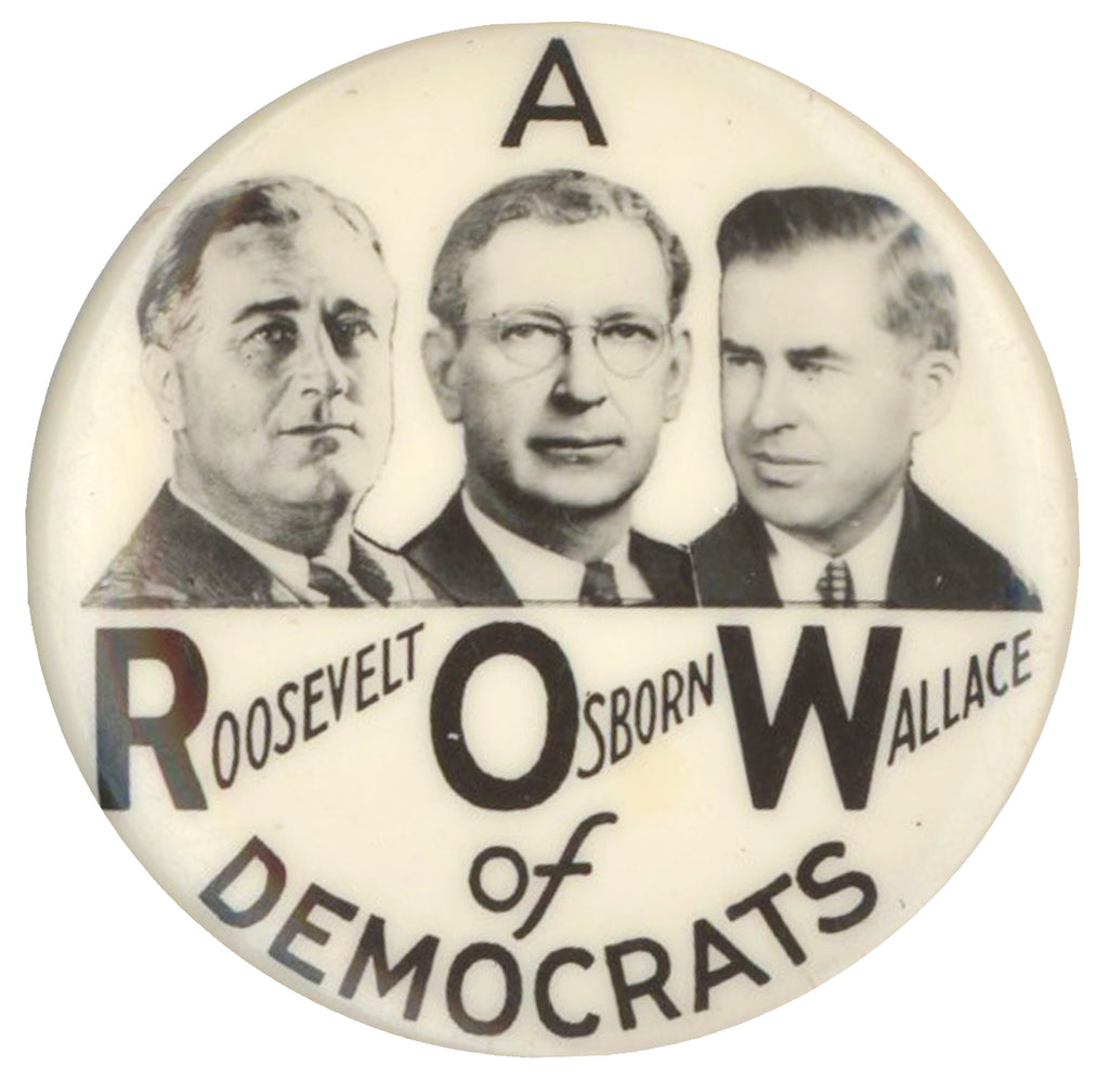A ROW of DEMOCRATS  ROOSEVELT OSBORN WALLACE