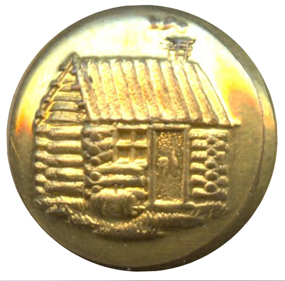 William Henry Harrison log cabin clothing button