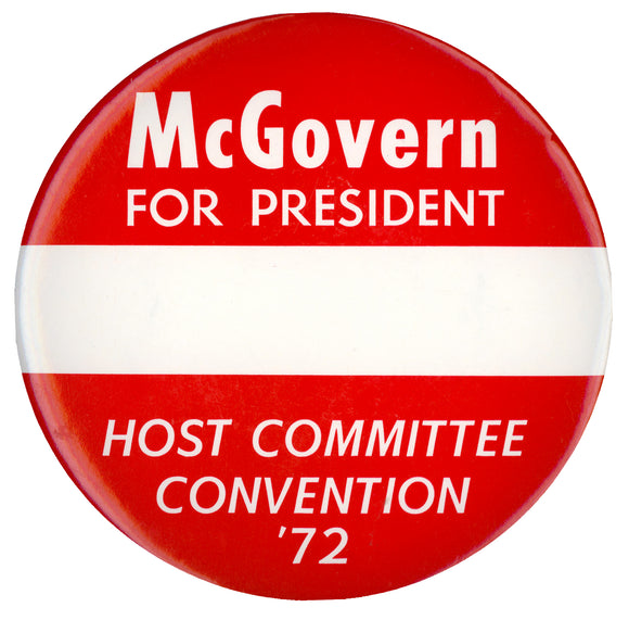 McGovern FOR PRESIDENT HOST COMMITTEE  CONVENTION '72  (6