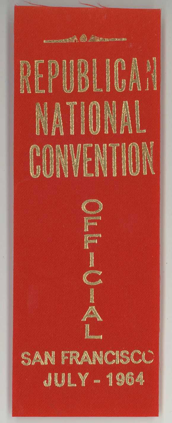 REPUBLICAN NATIONAL CONVENTION OFFICIAL SAN FRANCISCO JULY - 1964