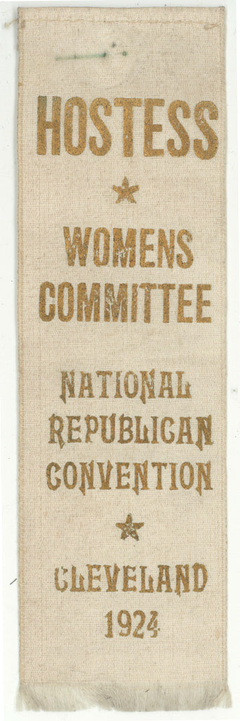HOSTESS WOMENS COMMITTEE NATIONAL REPUBLICAN CONV. CLEVELAND 1924
