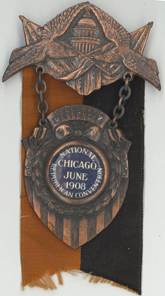 TELEGRAPH MESSENGER / NATIONAL REPUBLICAN CONVENTION CHICAGO JUNE 1908