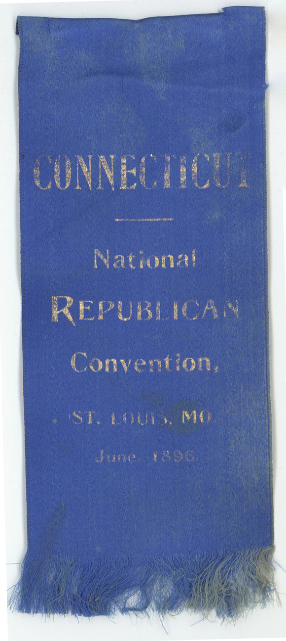 CONNECTICUT  National REPUBLICAN Convention, ST. LOUIS, MO  June 1896