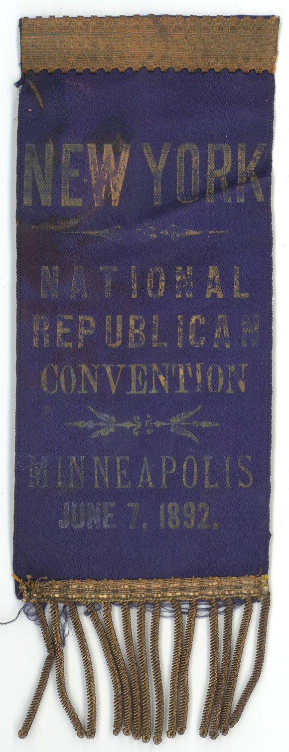 NEW YORK  NATIONAL REPUBLICAN CONVENTION  MINNEAPOLIS  JUNE, 1892.