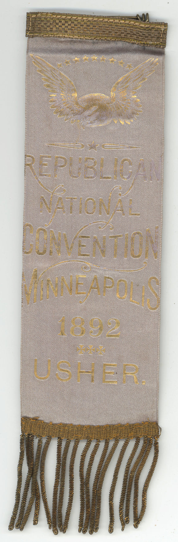 REPUBLICAN NATIONAL CONVENTION MINNEAPOLIS 1892  USHER.