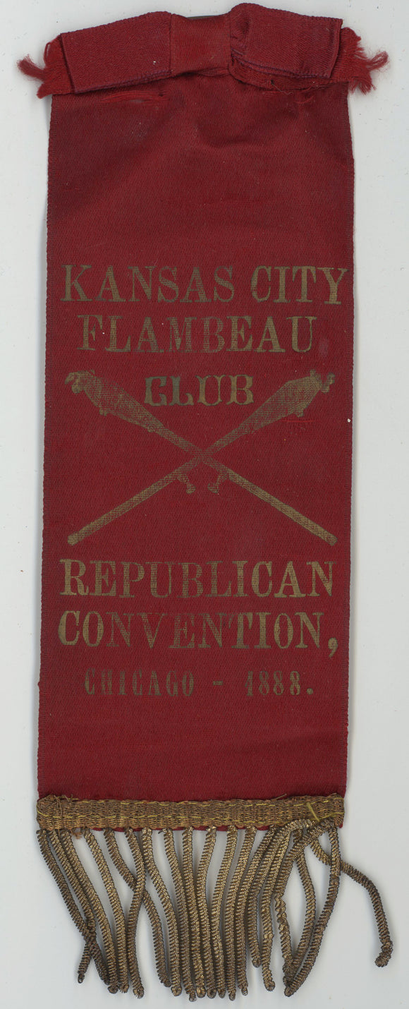 KANSAS CITY FLAMBEAU CLUB  REPUBLICAN CONVENTION, CHICAGO - 1888.