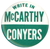 WRITE IN McCARTHY CONYERS
