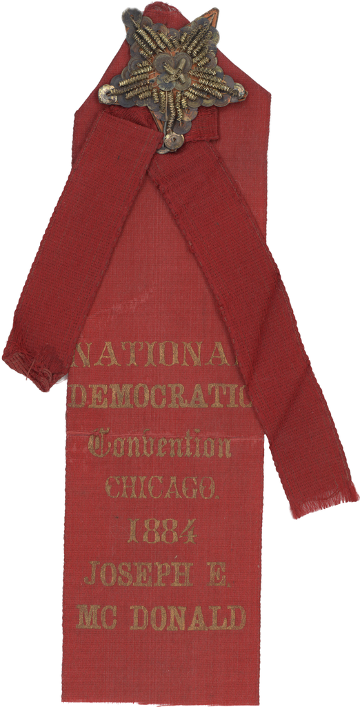 NATIONAL DEMOCRATIC Convention CHICAGO. 1884 JOSEPH E. MCDONALD