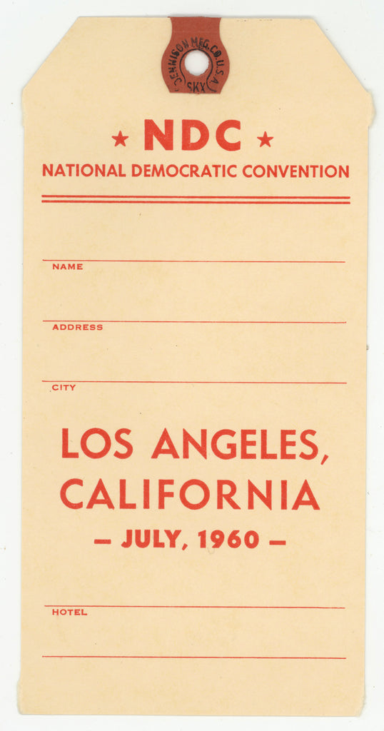 NDC NATIONAL DEMOCRATIC CONVENTION  LOS ANGELES, CALIFORNIA JULY, 1960