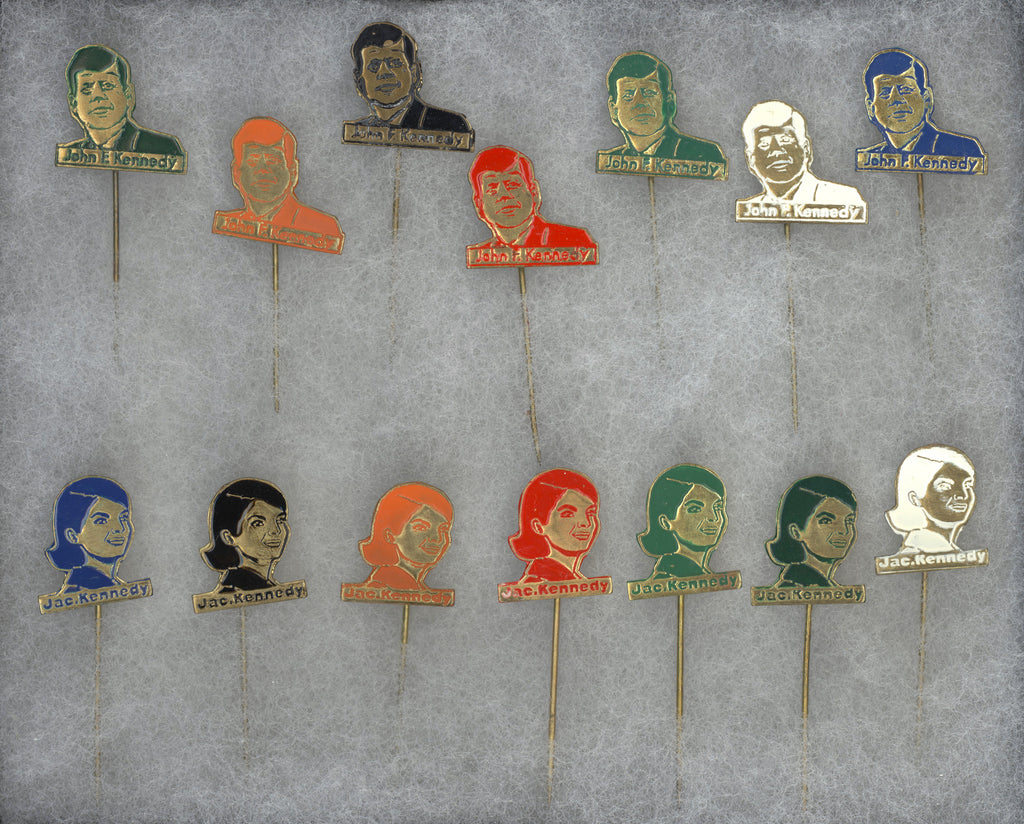 John F. Kennedy & Jac. Kennedy collection of 14 different stickpins