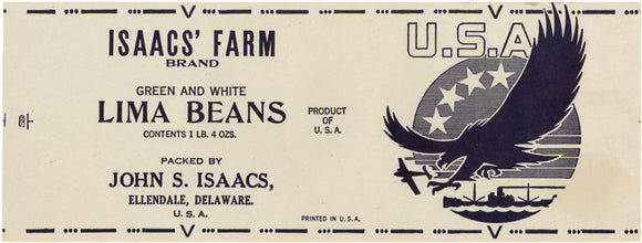 U.S.A.  V(ictory) LIMA BEANS can label