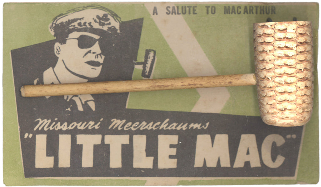 "A SALUTE TO MAC ARTHUR  Missouri Meerschaums ""LITTLE MAC"" (postcard)"