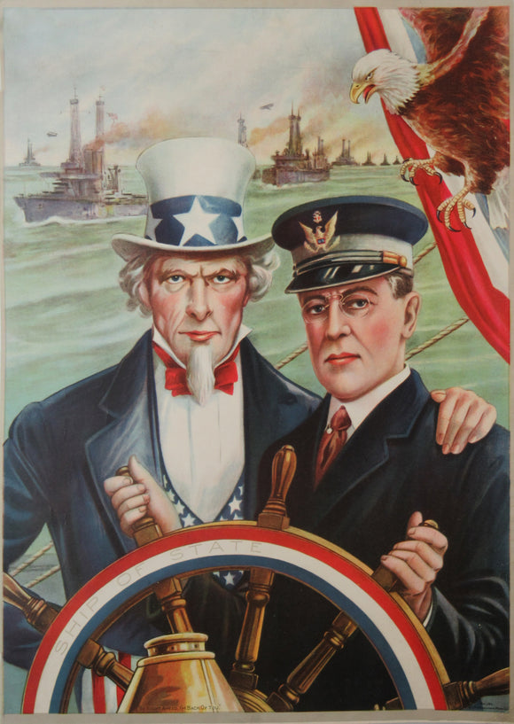 SHIP OF STATE (Uncle Sam & Woodrow Wilson)