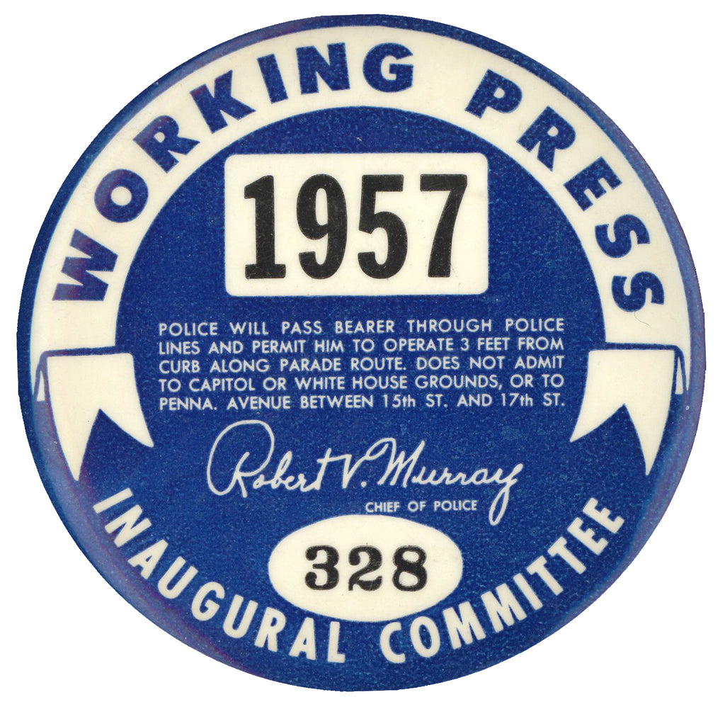 WORKING PRESS 1957 INAUGURAL COMMITTEE