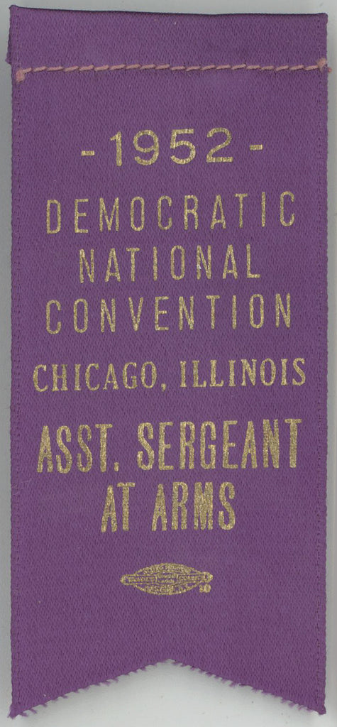 1952 DEMOCRATIC NATIONAL CONVENTION CHICAGO ASST. SERGEANT AT ARMS