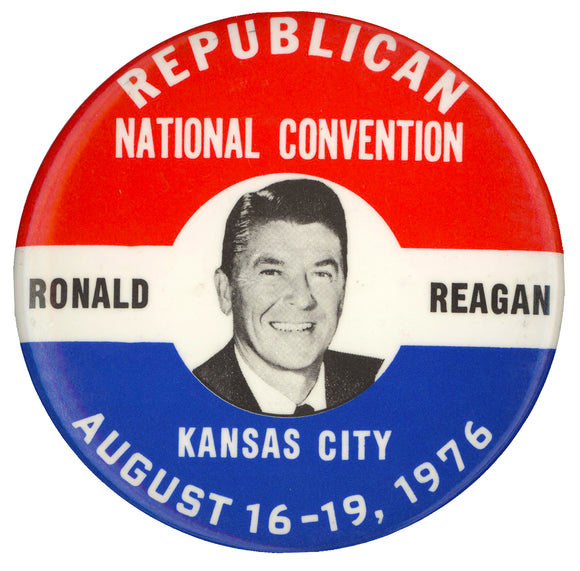 REPUBLICAN NATIONAL CONVENTION  RONALD REAGAN  KANSAS CITY 1976