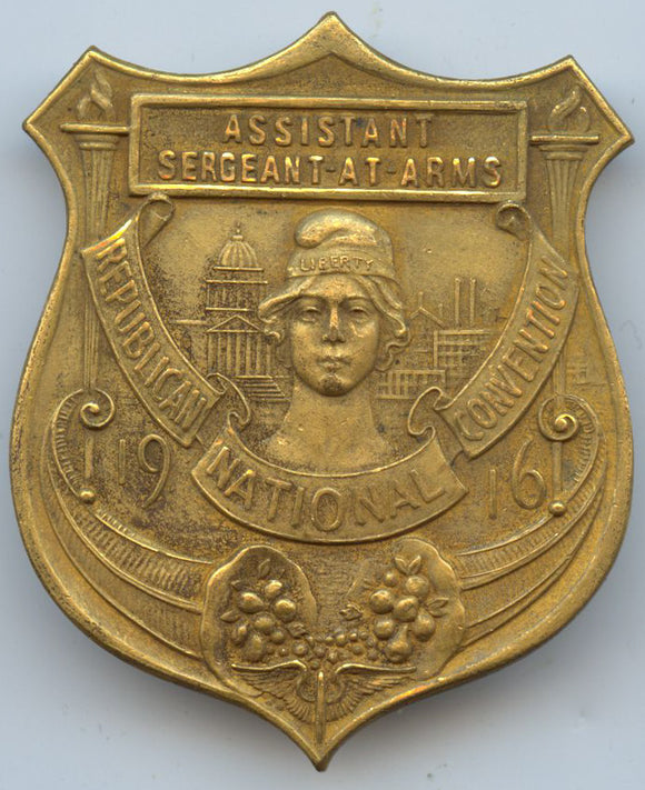 ASSISTANT SERGEANT AT ARMS  REPUBLICAN NATIONAL CONVENTION 1916