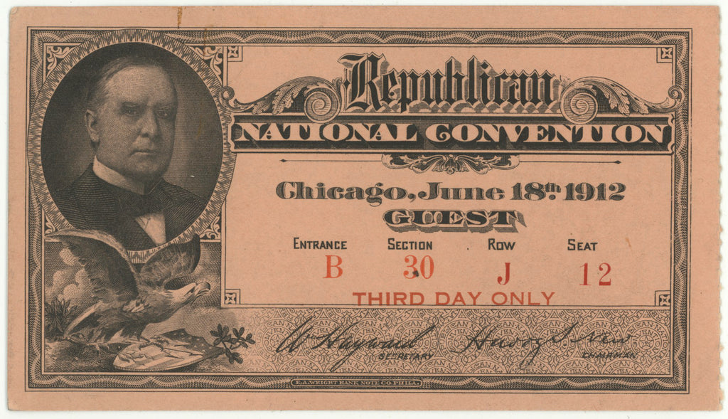 Republican NATIONAL CONVENTION Chicago, June 18th 1912  GUEST
