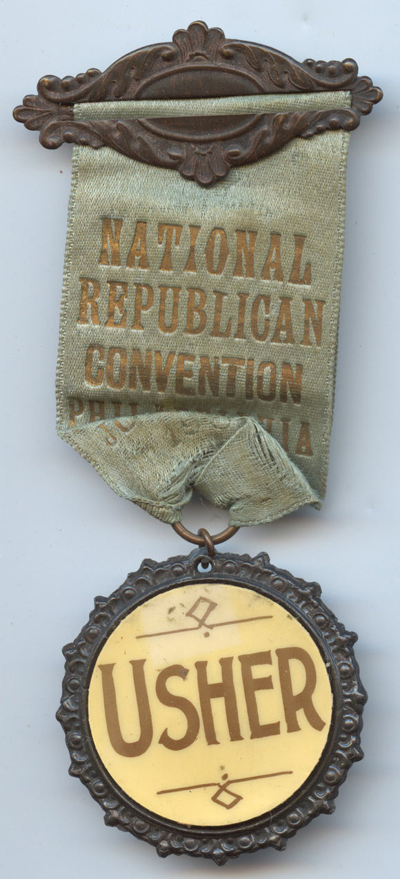 NATIONAL REPUBLICAN CONVENTION PHILADELPHIA JUNE 1900 / USHER