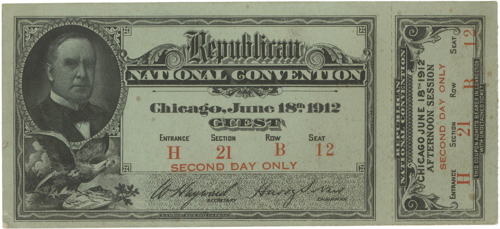 Republican National CONVENTION. MINNEAPOLIS JUNE 7th 1892 GUEST'S TICKET