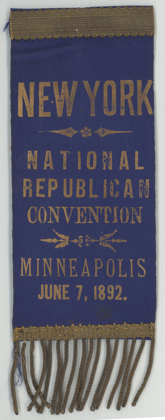 NEW YORK  NATIONAL REPUBLICAN CONVENTION MINNEAPOLIS JUNE 7, 1892.