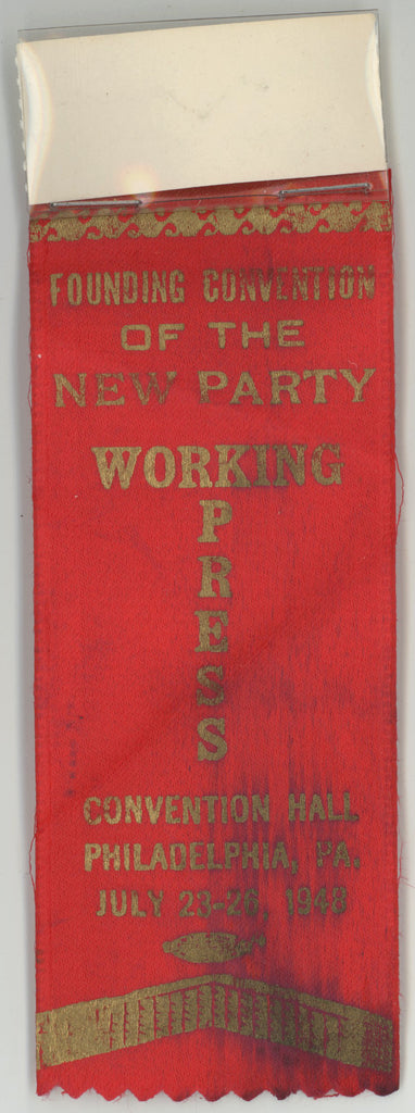 FOUNDING CONVENTION OF THE NEW PARTY  WORKING PRESS  PHILADELPHIA 1948