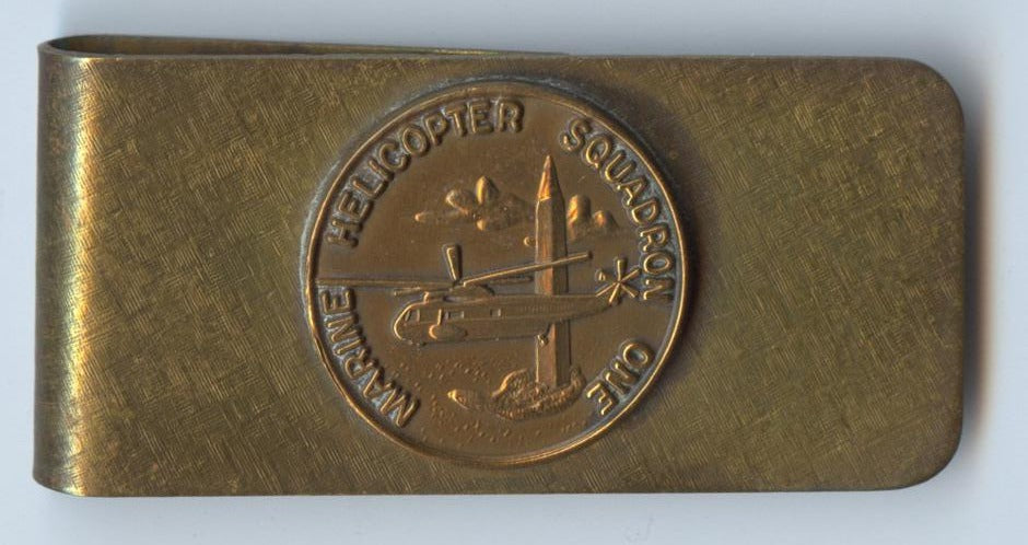 MARINE HELICOPTER SQUADRON ONE (money clip)