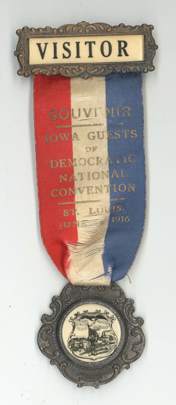 VISITOR / IOWA GUESTS OF DEMOCRATIC NATIONAL CONVENTION ST. LOUIS 1916
