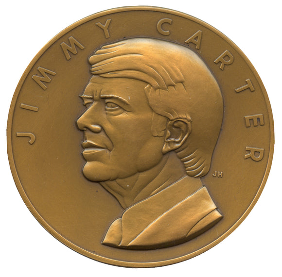 JIMMY CARTER / 39th PRESIDENT OF THE UNITED STATES INAUGURATED 1977 (bronze)