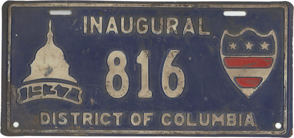 INAUGURAL 1937 DISTRICT OF COLUMBIA