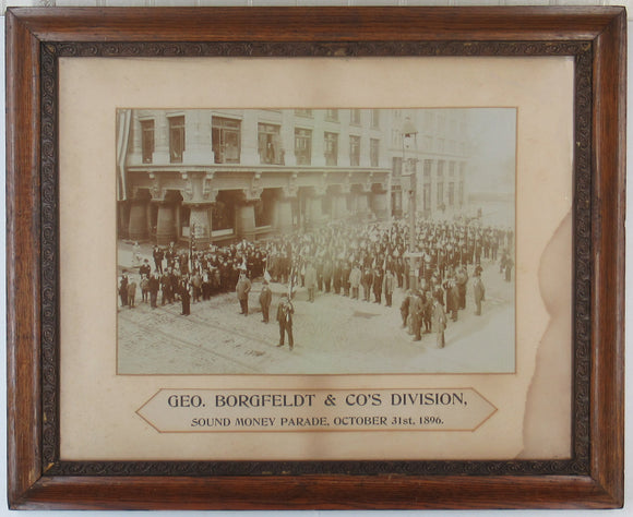 GEO. BORGFELDT & CO'S DIVISION, SOUND MONEY PARADE, OCTOBER 31st, 1896