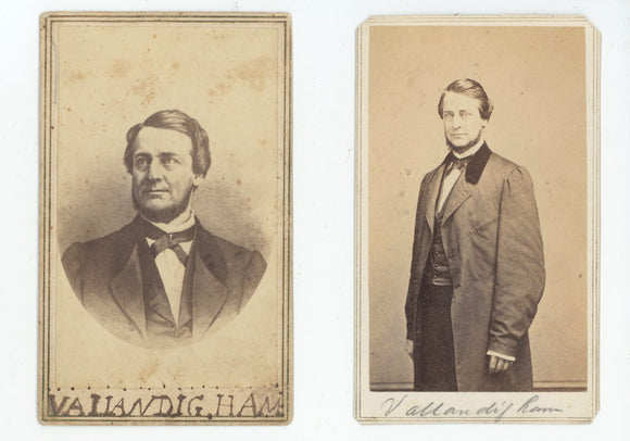 Clement Vallandigham - two carte de visites