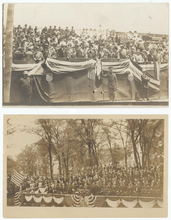 Two Theodore Roosevelt real photo postcards